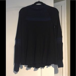 Free people black and blue tunic